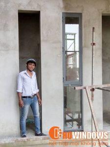 Cửa mẫu nhôm kính cho công trình lớn