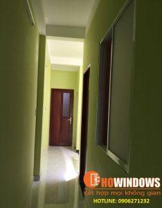 cửa nhôm cao cấp bàn giao nhà anh Minh